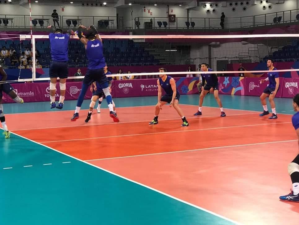 Seleção fez jogo treino contra a Argentina (divulgação/CBV)