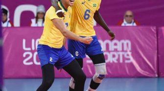 Abouba foi o principal destaque na segunda vitória brasileira (Victor Calvo/CBV)