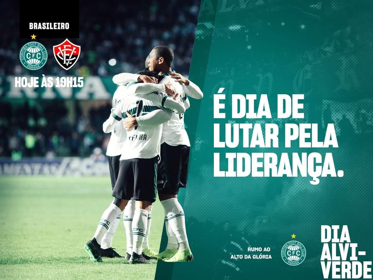 Coritiba e Vitória se enfrentam hoje no Couto Pereira (divulgação/Coritiba)