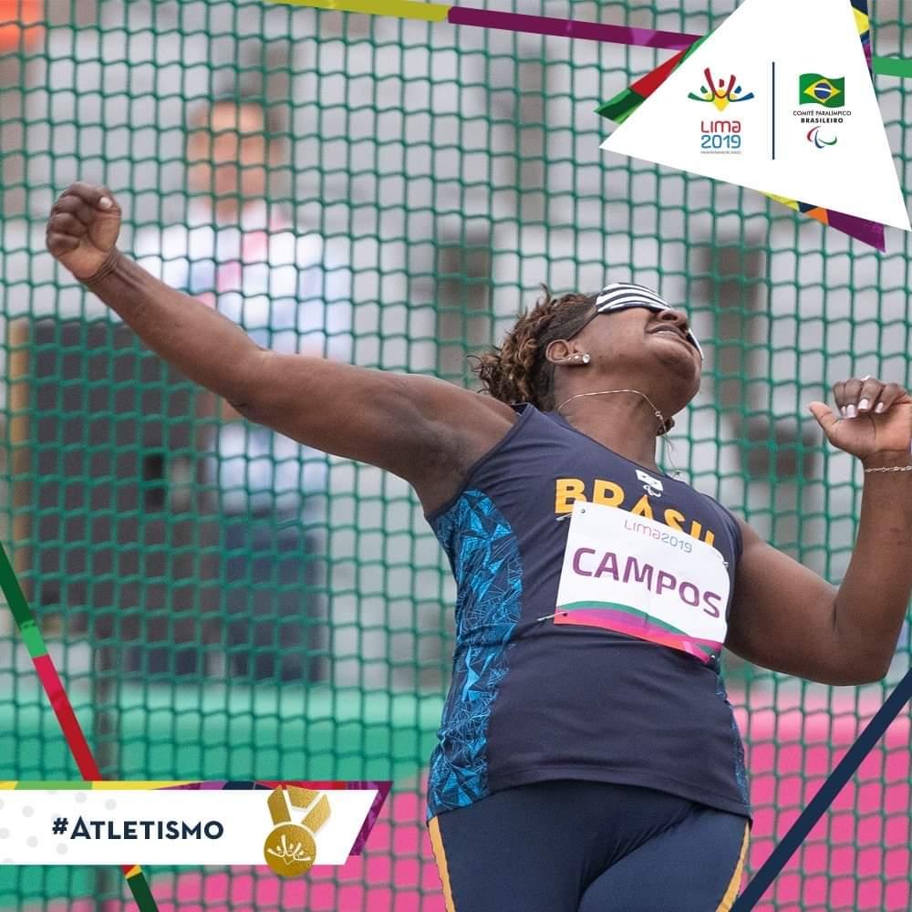 com direito a recorde de campeonato, Izabela conquista o primeiro lugar no lançamento de disco