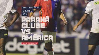 Paraná Recebe o América-Mg (Divulgação/Paraná Clube)