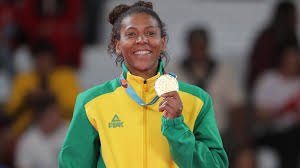 Rafaela com o ouro Pan-americano (Reuters)