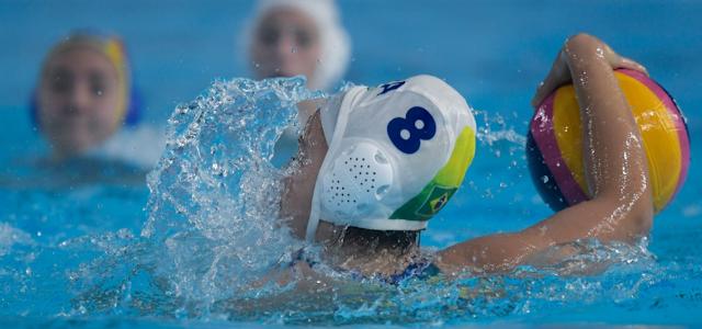 No Polo Aquático masculino, Brasil vence México (Washington Bello/COB)