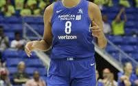 Cambage foi a cestinha da partida (divulgação/WNBA