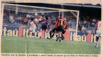 Paraná conquistou o estadual pelo terceiro ano consecutivo em 1995 (divulgação)